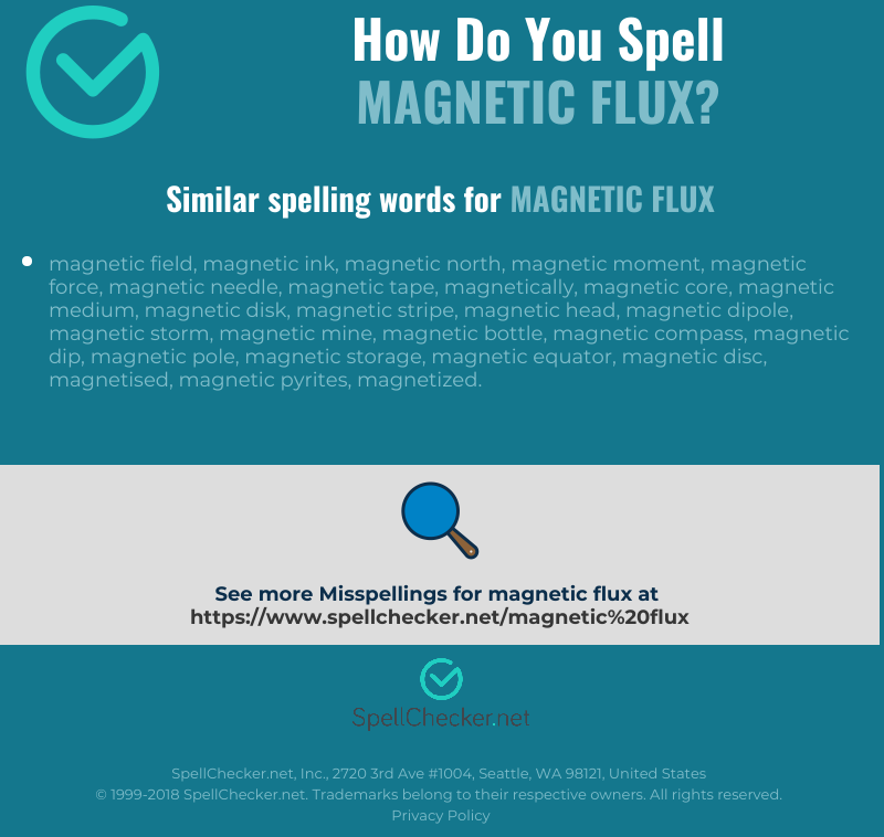 Correct spelling for magnetic flux [Infographic