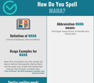 Correct spelling for maha