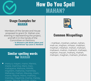 Correct spelling for mahan