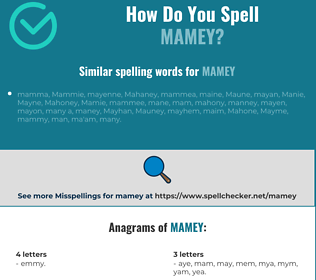 Correct spelling for mamey