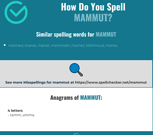 Correct spelling for mammut