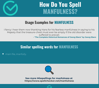 Correct spelling for manfulness