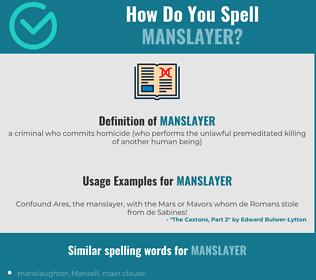 Correct spelling for manslayer
