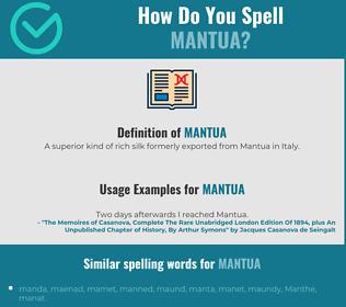 Correct spelling for mantua