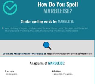 Correct spelling for marbleise