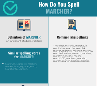 Correct spelling for marcher