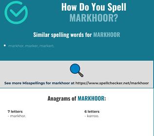 Correct spelling for markhoor