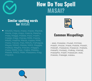 Correct spelling for masai