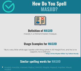 Correct spelling for masjid