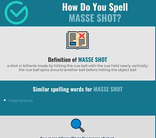Correct spelling for masse shot