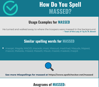 Correct spelling for massed