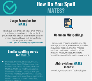 Correct spelling for mates