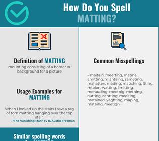 Correct spelling for matting
