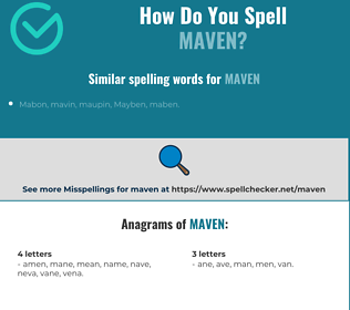 Correct spelling for maven