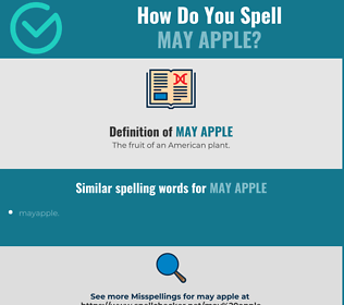 Correct spelling for may apple