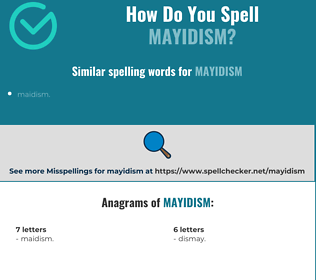 Correct spelling for mayidism