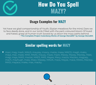 Correct spelling for mazy