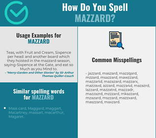 Correct spelling for mazzard