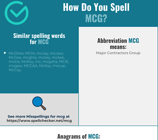 Correct spelling for mcg