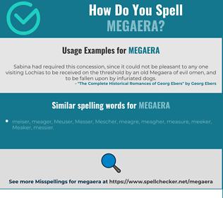 Correct spelling for megaera