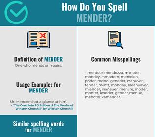 Correct spelling for mender