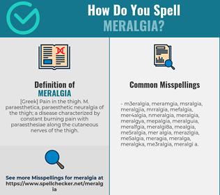 Correct spelling for meralgia