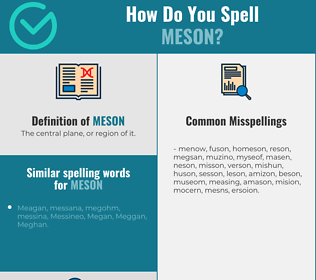 Correct spelling for meson