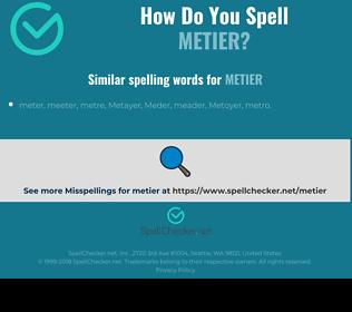 Correct spelling for metier