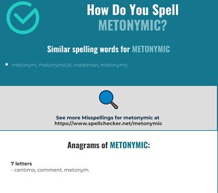 Correct spelling for metonymic