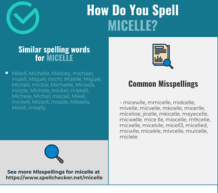 Correct spelling for micelle