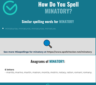 Correct spelling for minatory