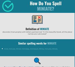 Correct spelling for miniate