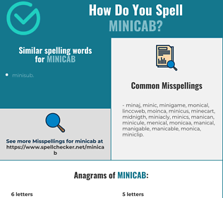 Correct spelling for minicab
