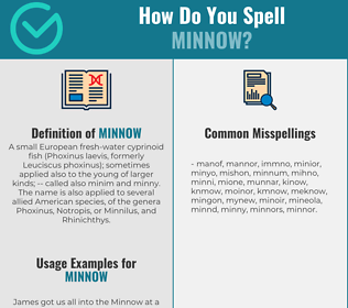 Correct spelling for minnow