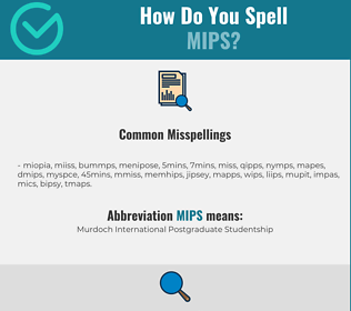 Correct spelling for mips