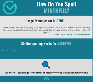 Correct spelling for mirthful