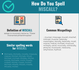 Correct spelling for miscall