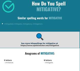 Correct spelling for mitigative