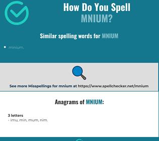 Correct spelling for mnium