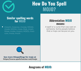 Correct spelling for mojo