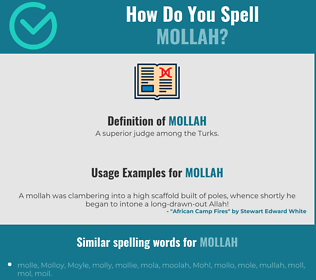 Correct spelling for mollah