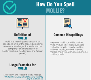 Correct spelling for mollie