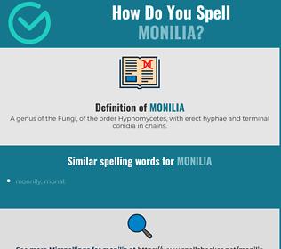 Correct spelling for monilia