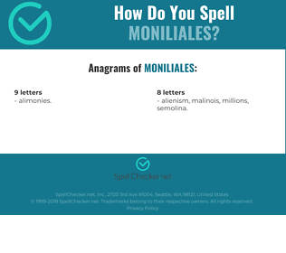 Correct spelling for moniliales
