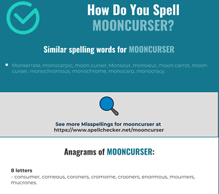 Correct spelling for mooncurser