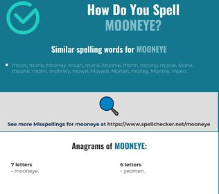 Correct spelling for mooneye