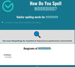 Correct spelling for moorbird