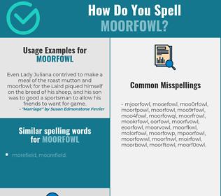 Correct spelling for moorfowl