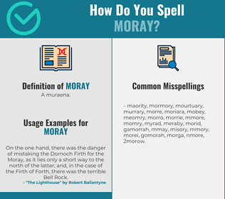 Correct spelling for moray