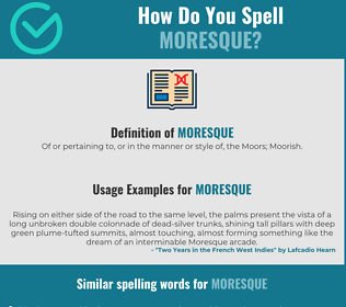Correct spelling for moresque